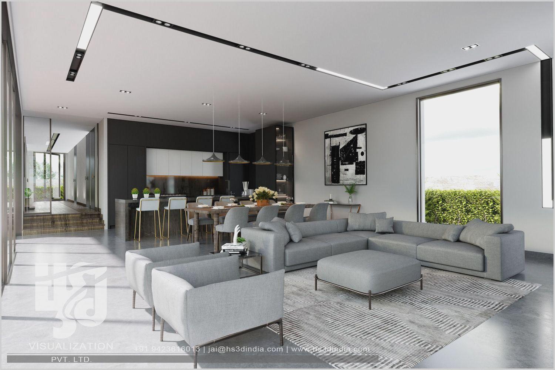 Sleek Ultra Modern Living Room di 2020 | Desain interior ...