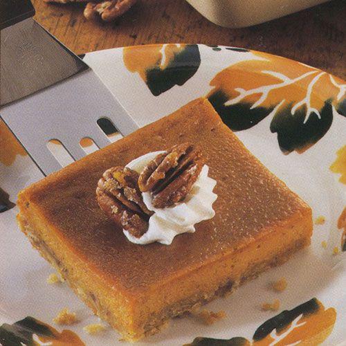Pumpkin Pie Bars Desserts: Pumpkin Pie á La Easy - The Pampered Chef®