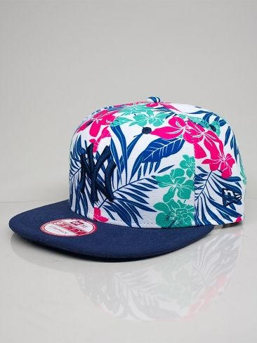 NEW ERA FLORICAL CONTRAST NEW YORK YANKEES Cappello Snapback - lt navy -  rose - island 64f34038bb15