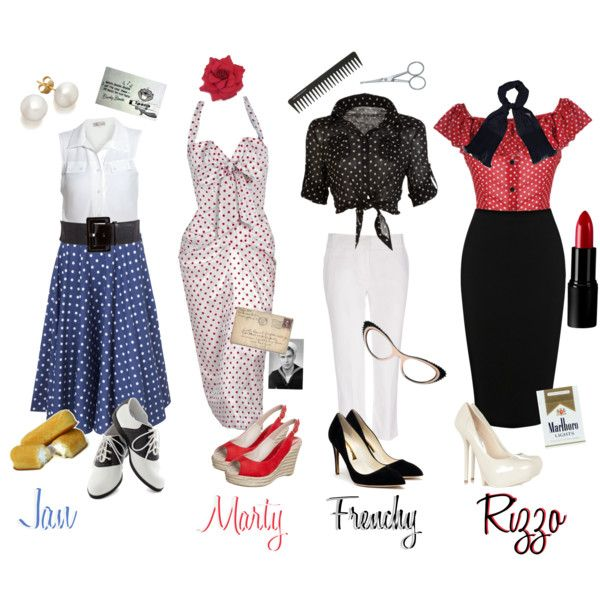 Grease Costumes on Pinterest | 50s Costume, Teen Costumes and Movie Halloween Costumes