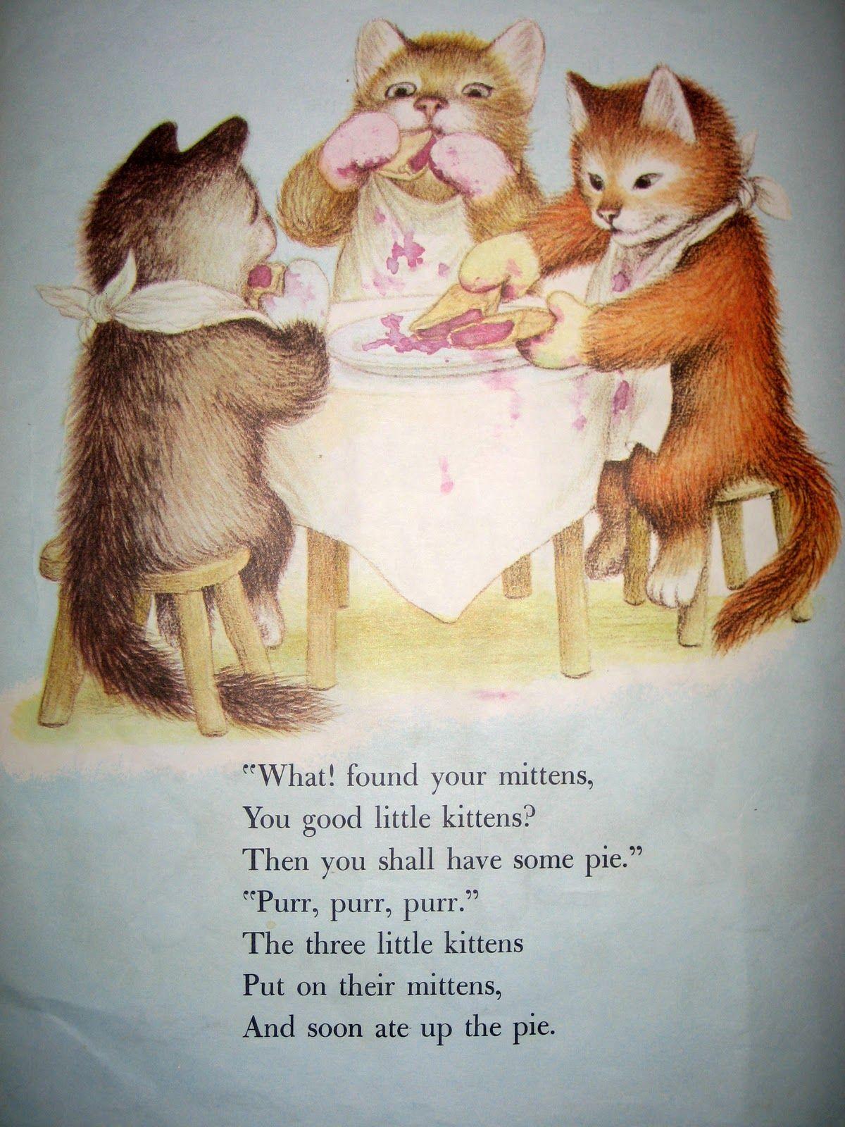 Vintage Cuteness Kittens Vintage Childrens Illustrations Childhood