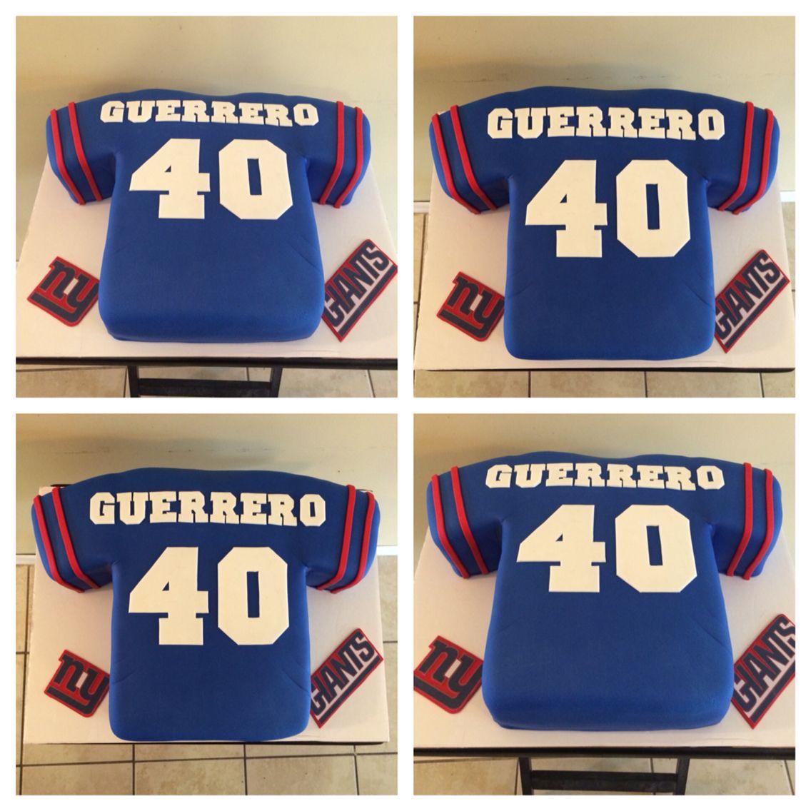 best service 08a19 e9691 NY GIANTS JERSEY CAKE | CAKES | Ny giants cake, Giant cake ...