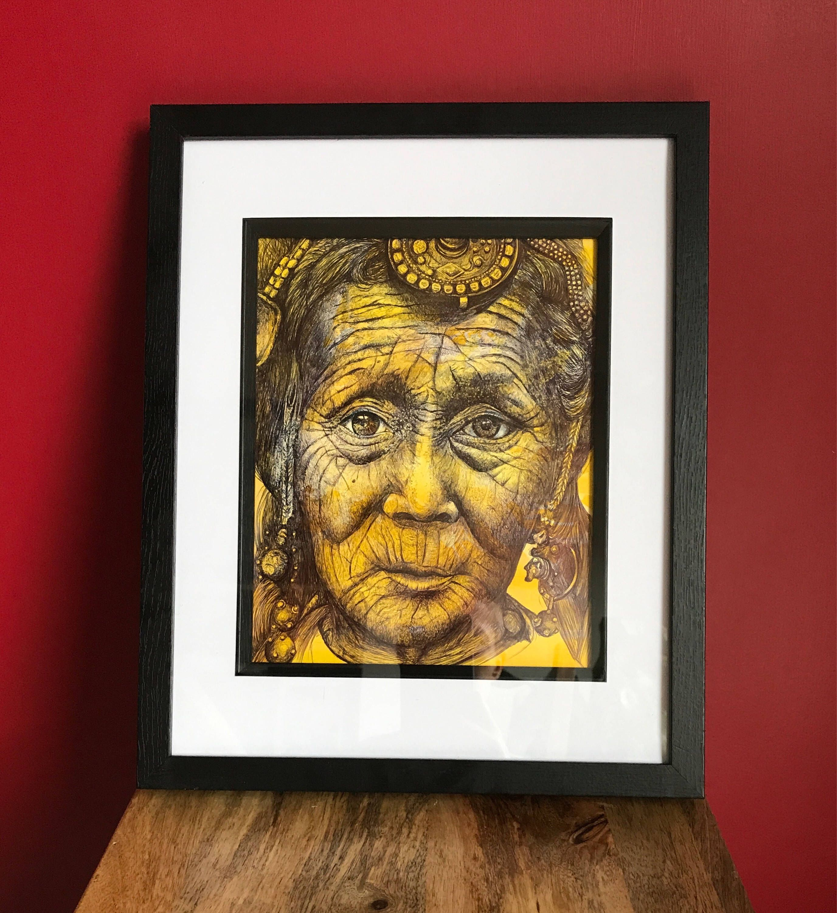 A personal favourite from my Etsy shop https://www.etsy.com/uk/listing/536060670/original-one-off-pen-portrait-beautiful
