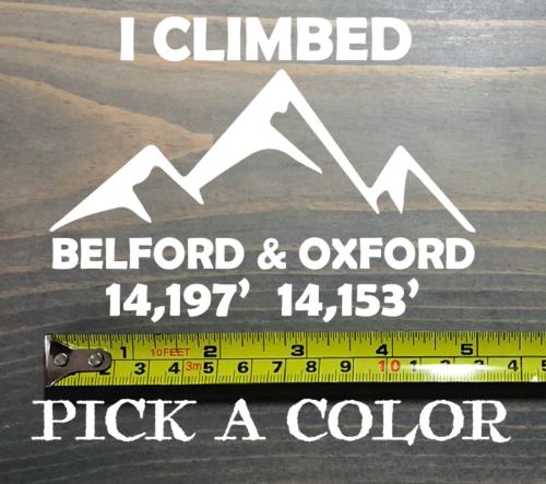 """Mountain Range Sticker Decal 5/"""" DIE CUT 14er 14ers Wasatch Cascade Rocky XO"""