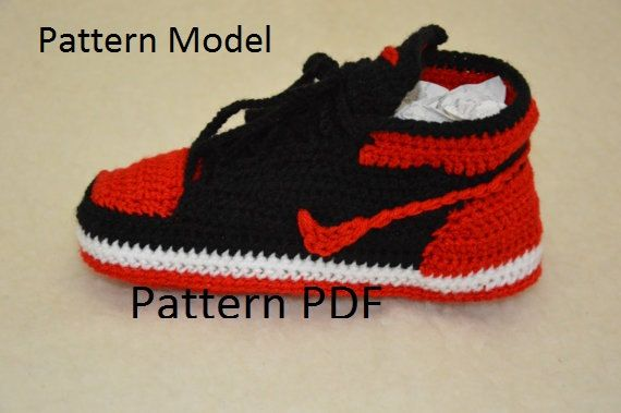 buy online aa735 23062 Jordan 1 · Baby Sneakers · Sneakers Nike · Basic Crochet Stitches · crochet  jordans pattern PDF crochet pattern only and not the finished ítem.
