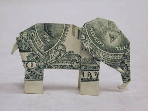 Origami/elephant