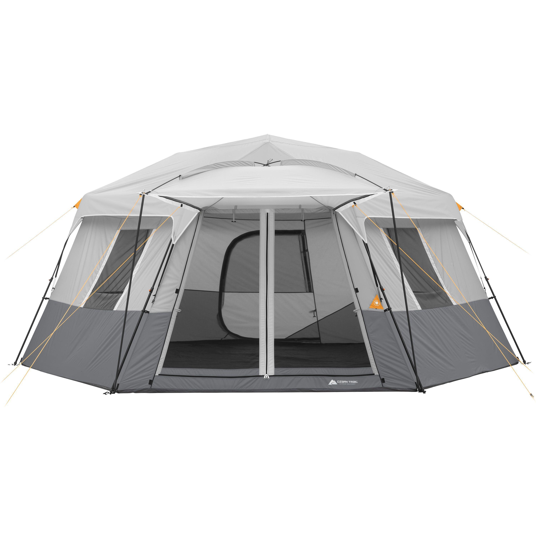 Ozark Trail 8 Person Instant Hexagon Cabin Tent Walmart Com Cabin Tent Family Tent Camping Tent
