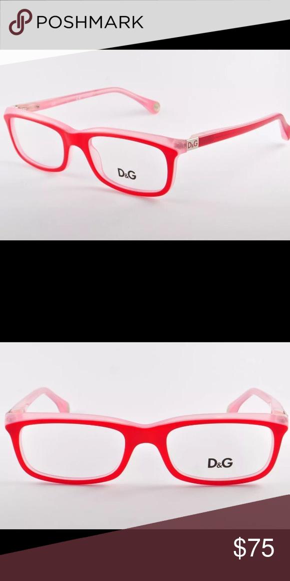 057f3abd4929 Dolce   Gabbana D G Eyeglasses Red Glasses Frames
