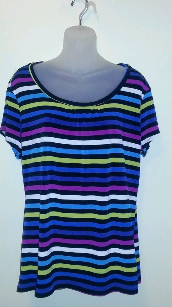 Nwot Worthington Xl Stripe Blouse Top Worthington Blouse