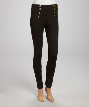 Another great find on #zulily! Black Sailor Ponte Leggings by Zenana #zulilyfinds