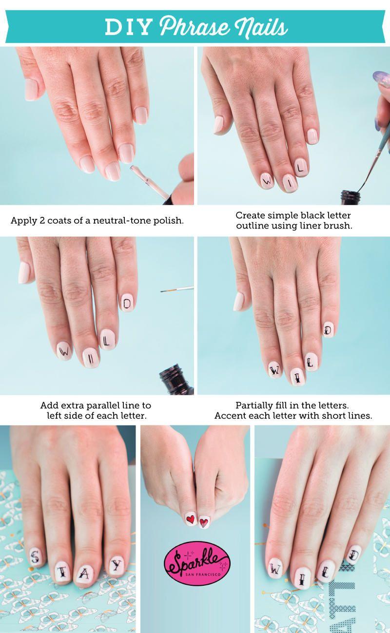 A tattoo manicure