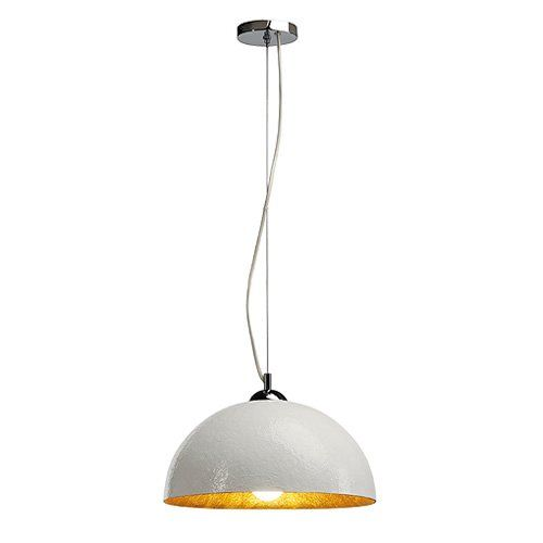 Pendelleuchte 1 Flammig Forchini Pd 2 Farbe Weiss Gold Amazon