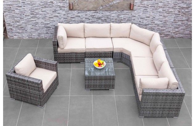 Amalfi Corner Sofa Set | Moda | A convenient modular design, change the layout to suit your garden. Spacious and chic looks for any outdoor setting!