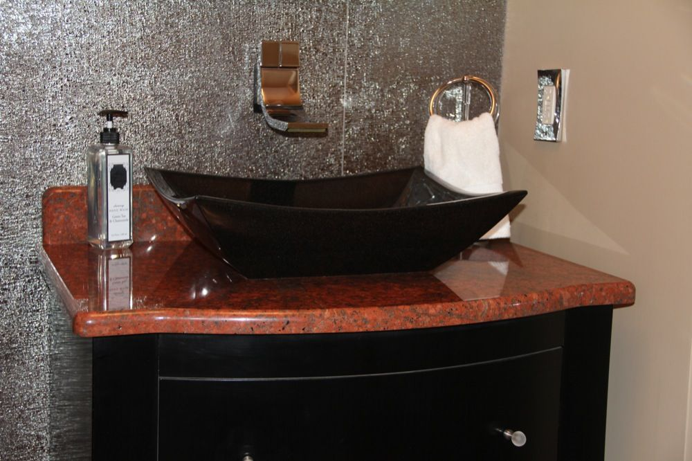 Red Dragon With Absolute Black Granite Sink