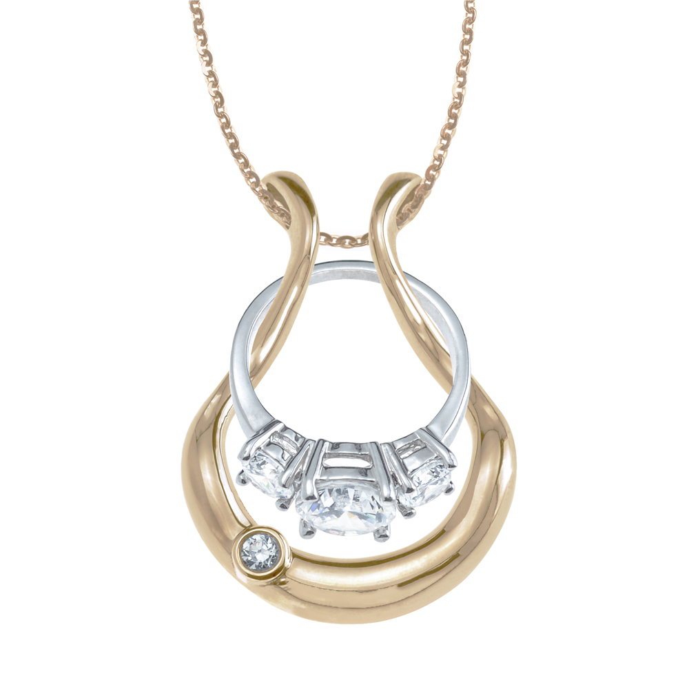 The Bezel Ring Holder Necklace Wedding ring necklaces
