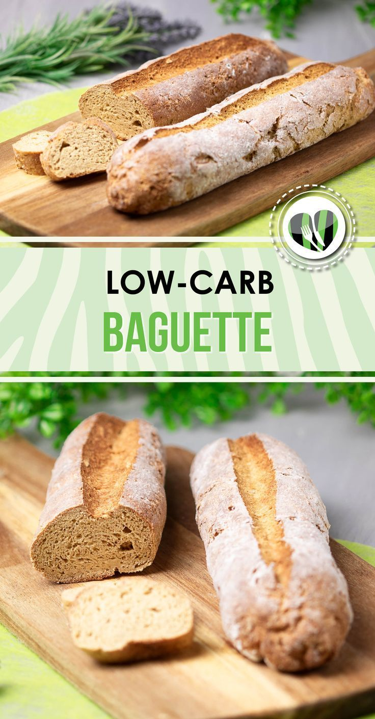 Das Low Carb Baguette ist glutenfrei und super lecker. Es passt perfekt zum Dinn... -