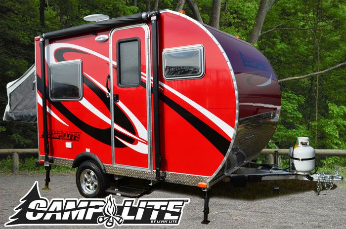 Camplite Ultra Lightweight Travel Trailers Ultra Lite Center Access Rv In 2020 Ultra Lite Travel Trailers Lightweight Travel Trailers Small Travel Trailers