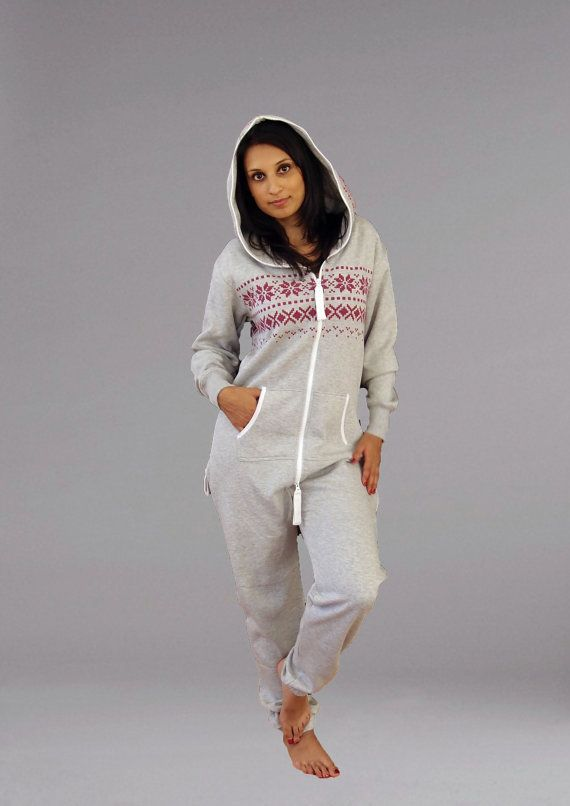 0febb9a538905 Unisex Adult Onesie Light Grey   dark pink Jumpsuit One Piece All In One  tracksuit hoodie Pyjamas Lazygrow Jump in One Direction