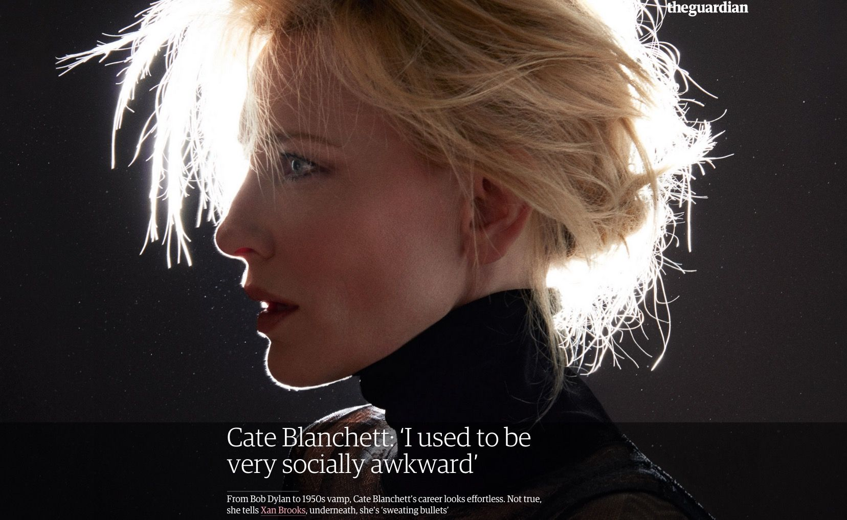 Cate Blanchett  #longread #front #cover #titlepage #feature #scroller #CMS #template #editorial #GuardianUK #photography