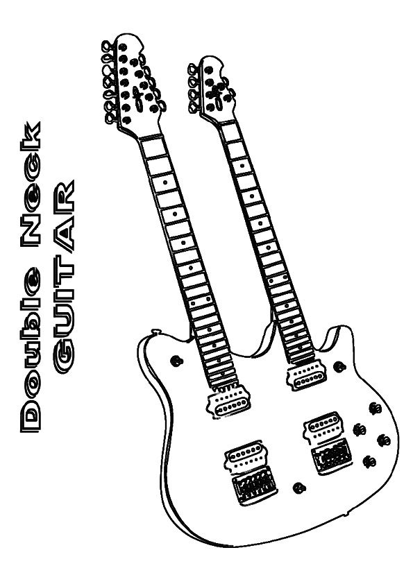 Print Coloring Image Momjunction Coloring Pages Guitar Color
