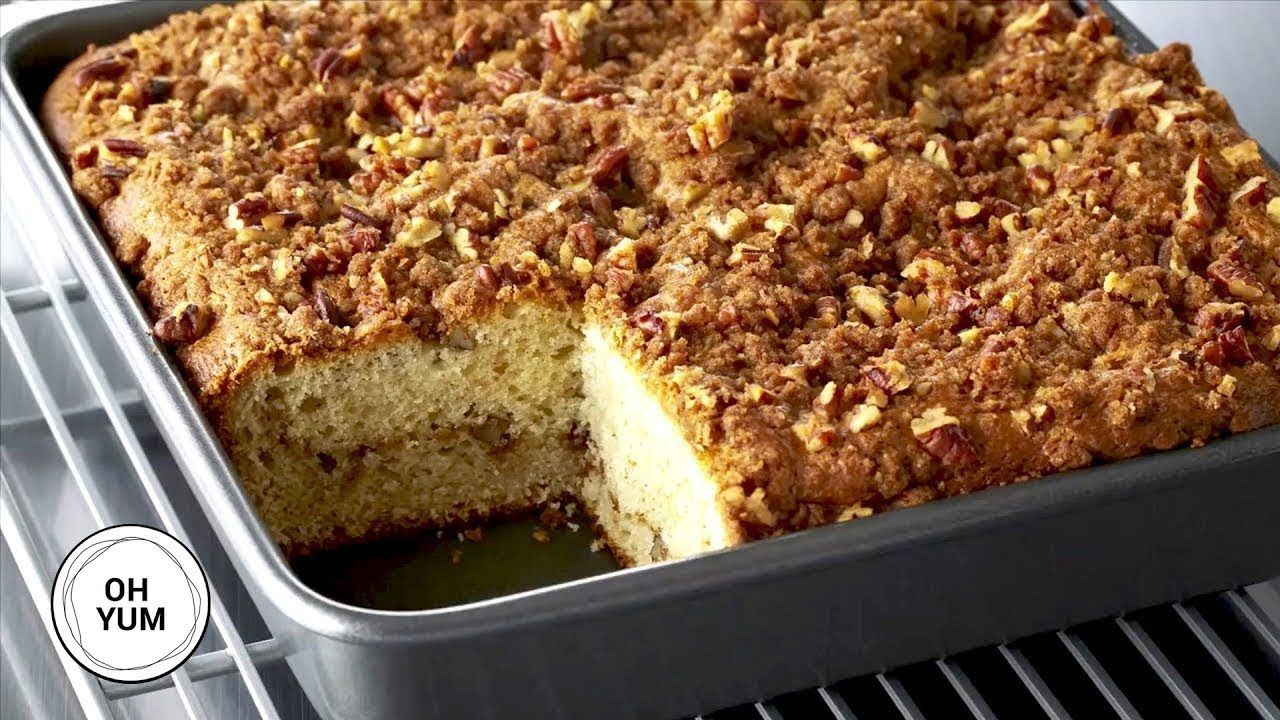 Professional Baker S Best Coffee Cake Recipe Youtube In 2020 Food Network Recipes Pecan Coffee Cake Sour Cream Coffee Cake