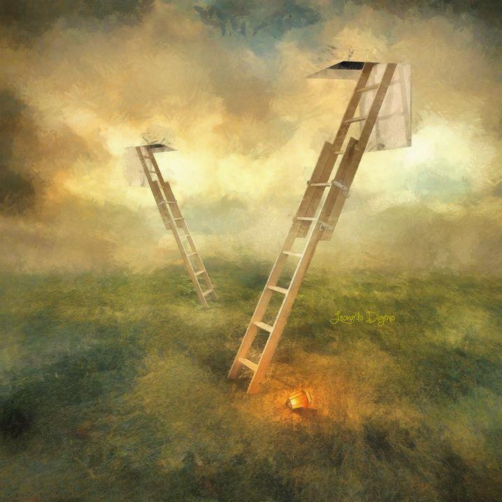 Stairs to Heaven - Leonardo Digenio - Paintings & Prints Still Life Other Still… | ArtPal thumbnail