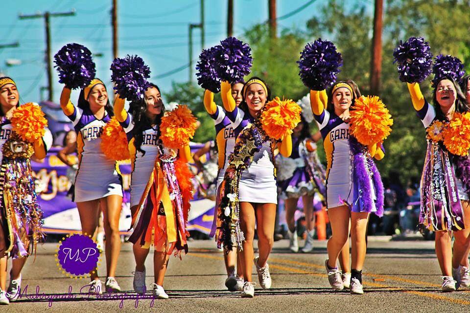 Cheerleaders at the parade.