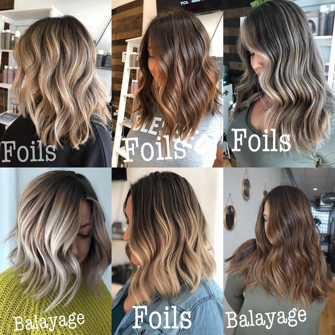 Redken On Instagram Foils Vs Balayage Haircolor Technique Vs A Look Chicagobalayage Shows Us Foiling Balayage Cool Hairstyles Foils Vs Balayage