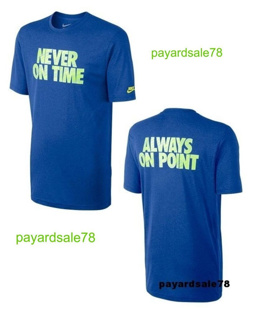 NEW MEN'S NIKE T-SHIRT NEVER ON TIME ALWAYS ON POINT CHEAP 100% AUTHENTIC SOFT #NIKE #GraphicTee