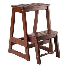 Marvelous Wooden Step Stool Wood Kitchen Ladder Home Seat Bedroom Fold Gamerscity Chair Design For Home Gamerscityorg
