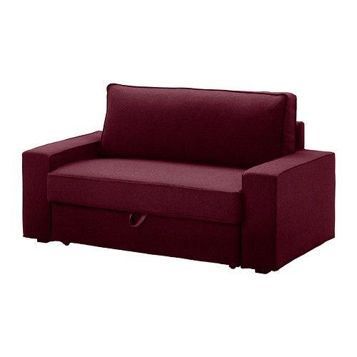 ВИЛАСУНД Чехол на 2-местный диван-кровать - Дансбу красно-сиреневый - IKEA