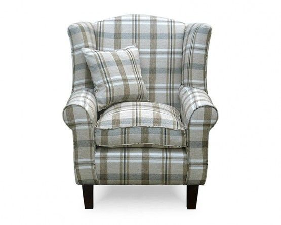 Wingback Armchair In Neyland Biscuit Fabric Homelife Direct Farmhouse Accent Chair Accent Chairs Armchair