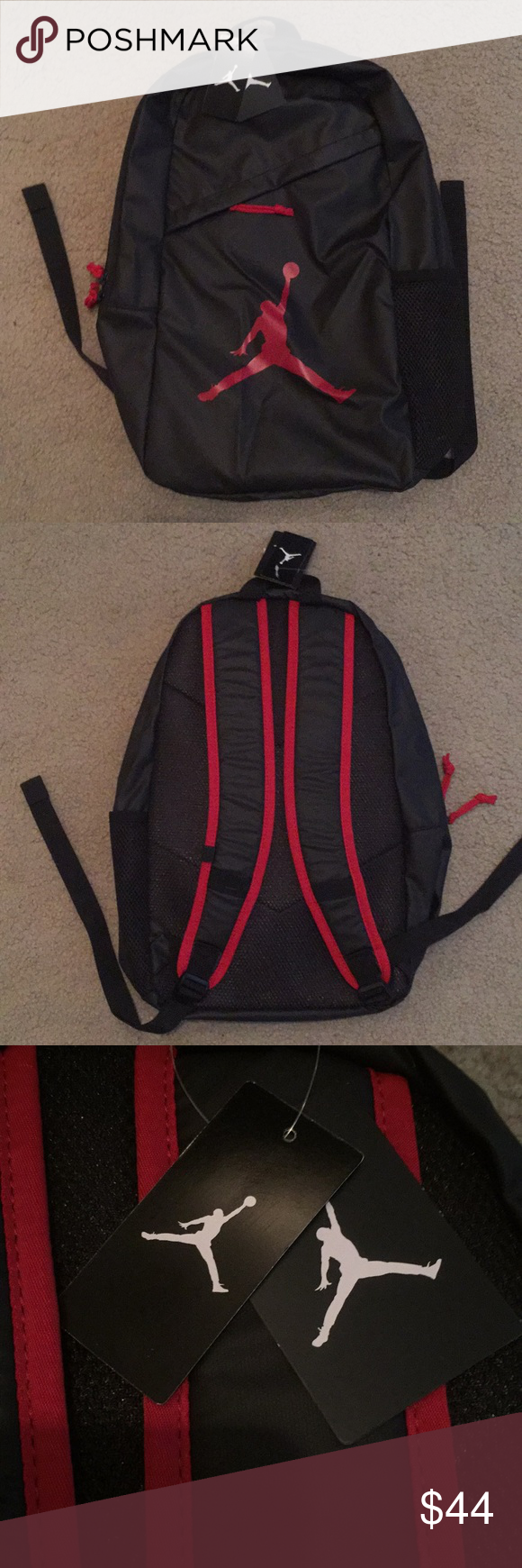 8ebe993ba7 NEW Jordan Brand Backpack Brand new Jordan Brand Backpack! The bag is black  and red and the tags are still attached! Jordan Bags Backpacks