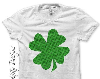 Iron-On Applique Embroidered Patch SMALL Irish Sequin Shamrock St Patricks Day