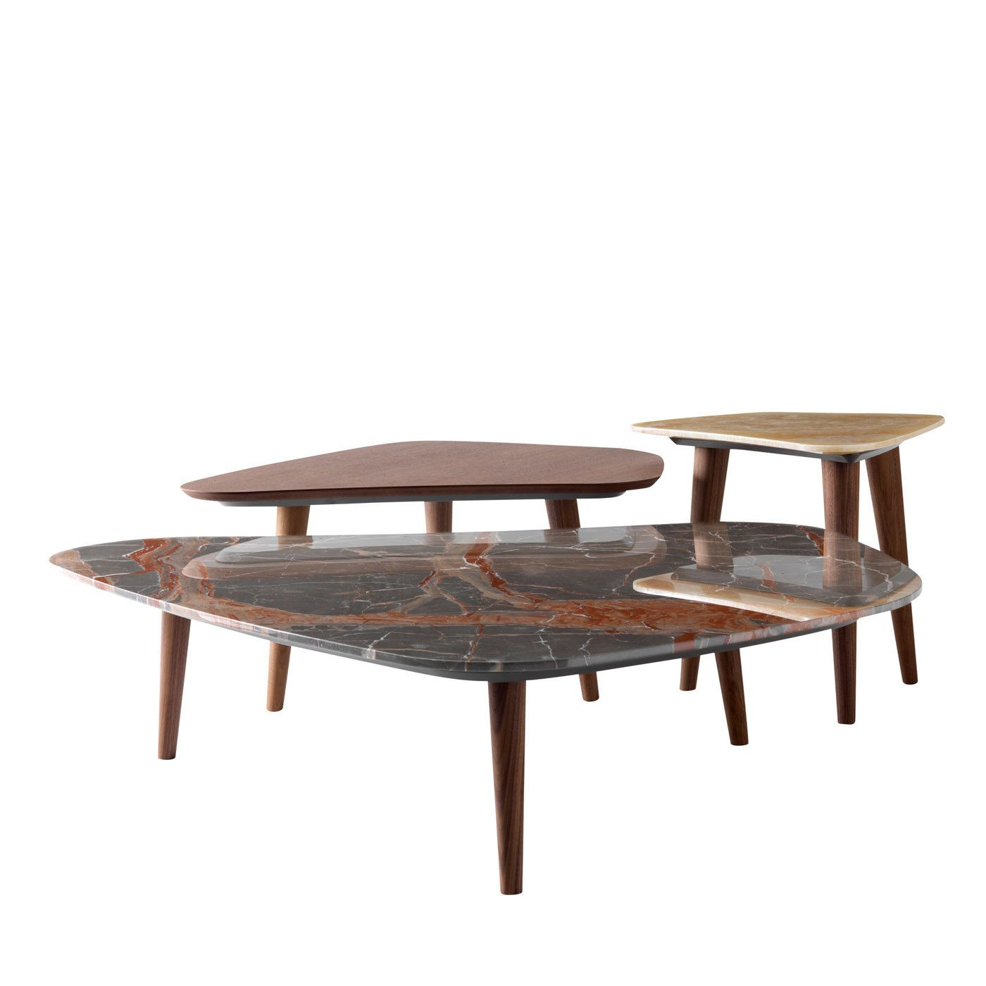 Set Of 3 Stone Coffee Tables In 2021 Coffee Table Stone Coffee Table Modern Side Table [ 1400 x 1400 Pixel ]