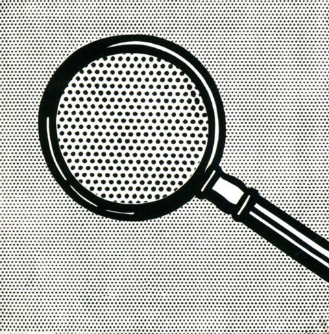 """""""Magnifying Glass"""", oil on canvas, 40x40 cm. 1963"""