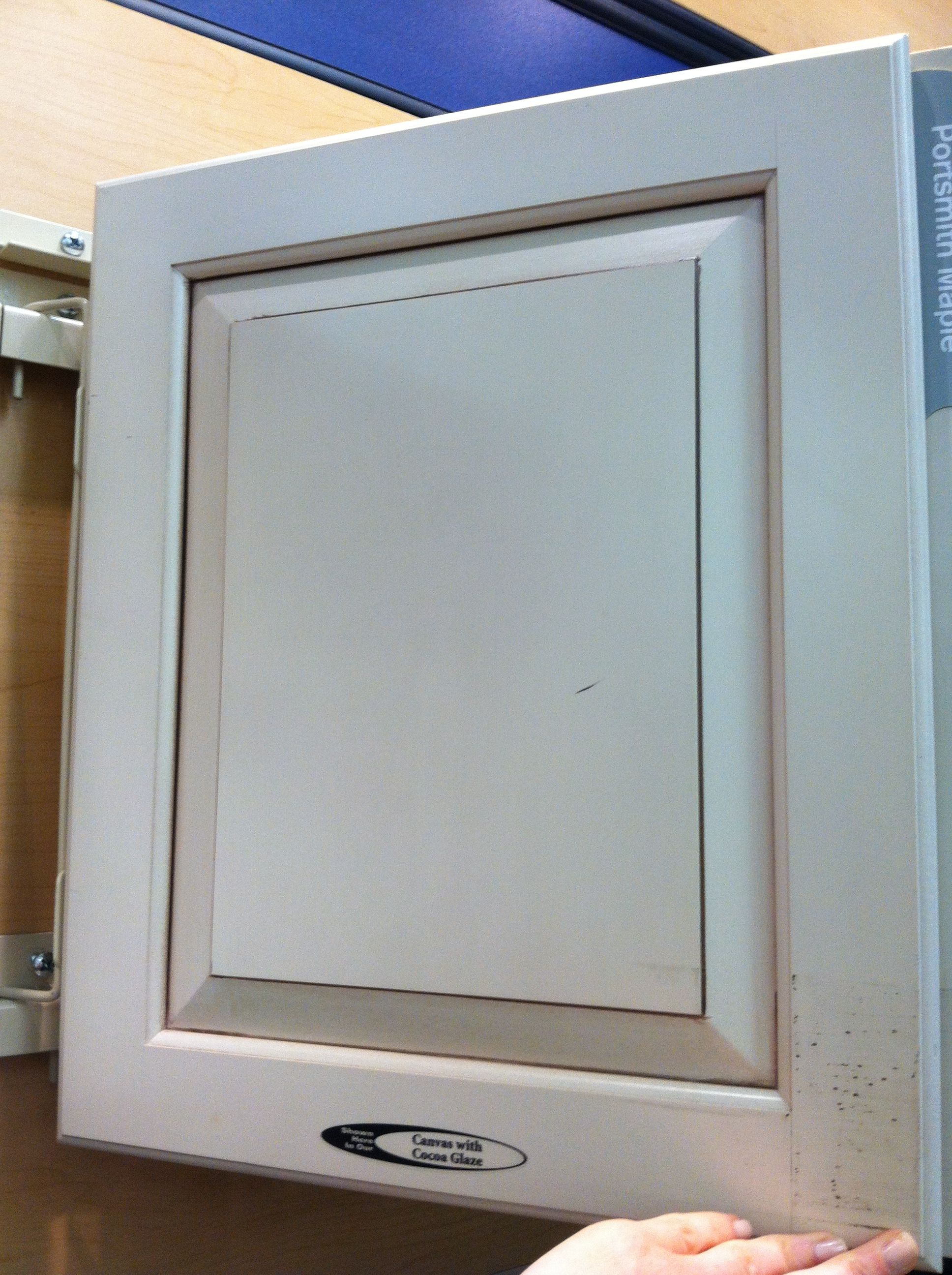 Kraftmaid canvas kitchen cabinet with cocoa glaze for Kraftmaid kitchen cabinets