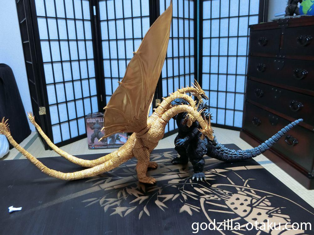 S.H. MonsterArts Godzilla 1995 Birth VS King Ghidorah