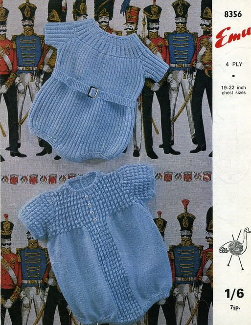 Emu 8356 Baby Knitting Patterns Vintage Baby Clothes