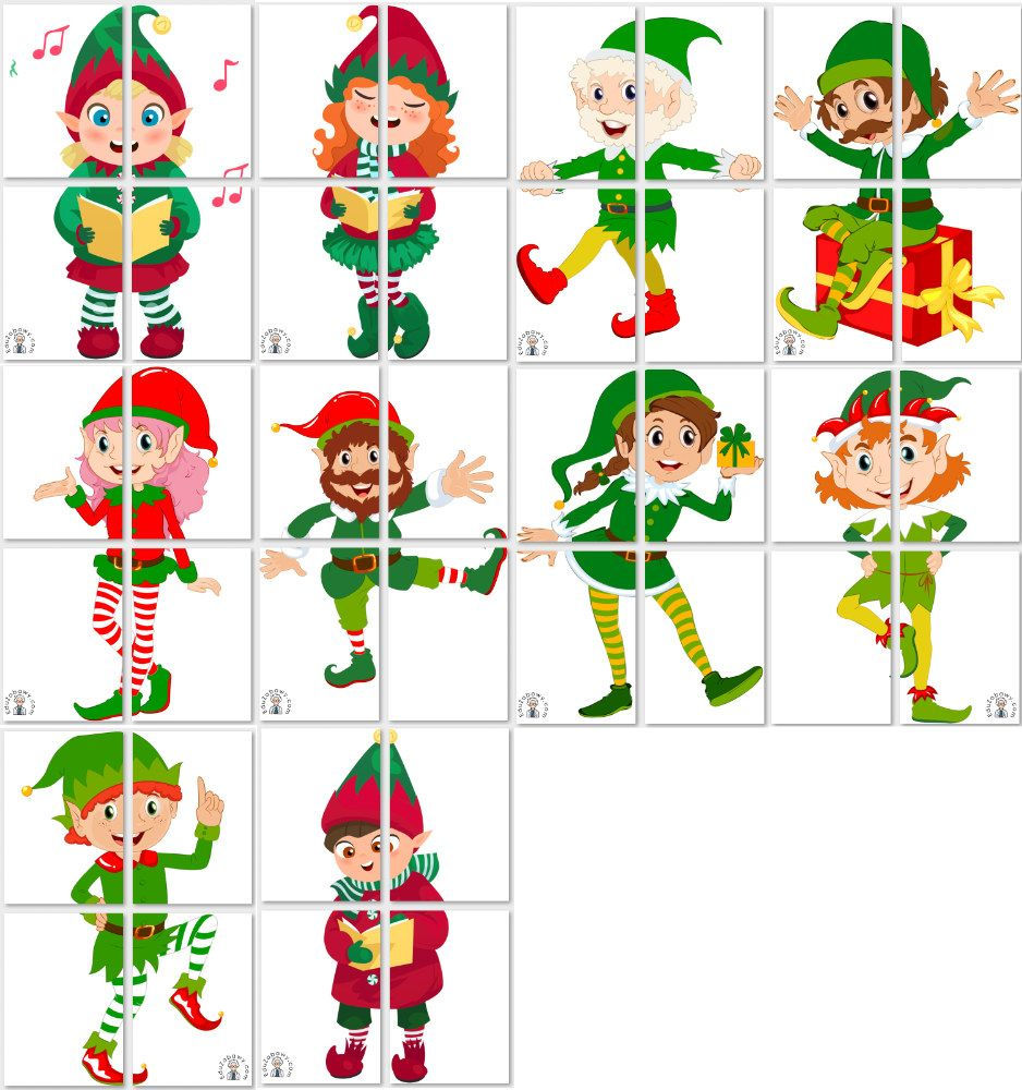 Dekoracje Xxl Elfy Holiday Decor Cards Calendar