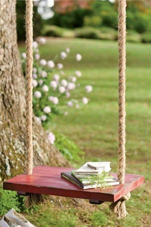 17 Ways To Make Your Home Look Like A Hippie Hideaway- simple outdoor rope swing