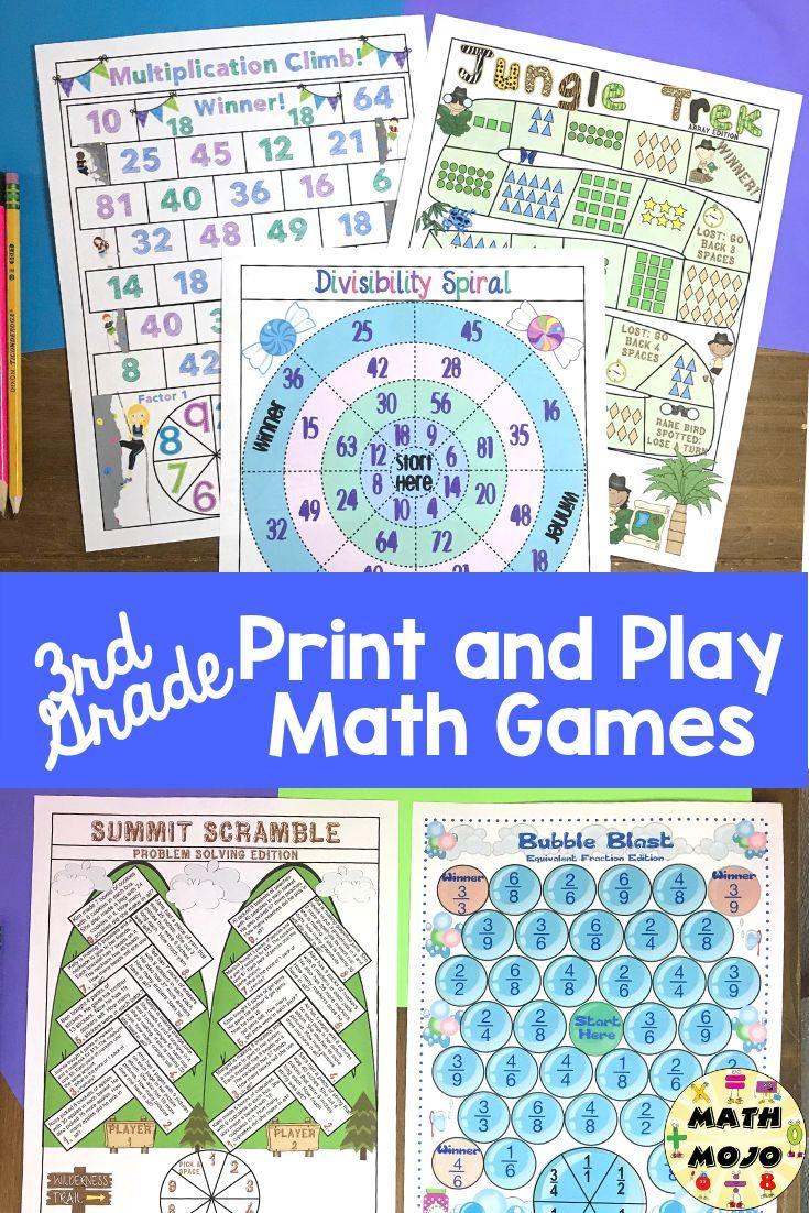 Math Games for 3rd Grade contains 50+ fun, stress free