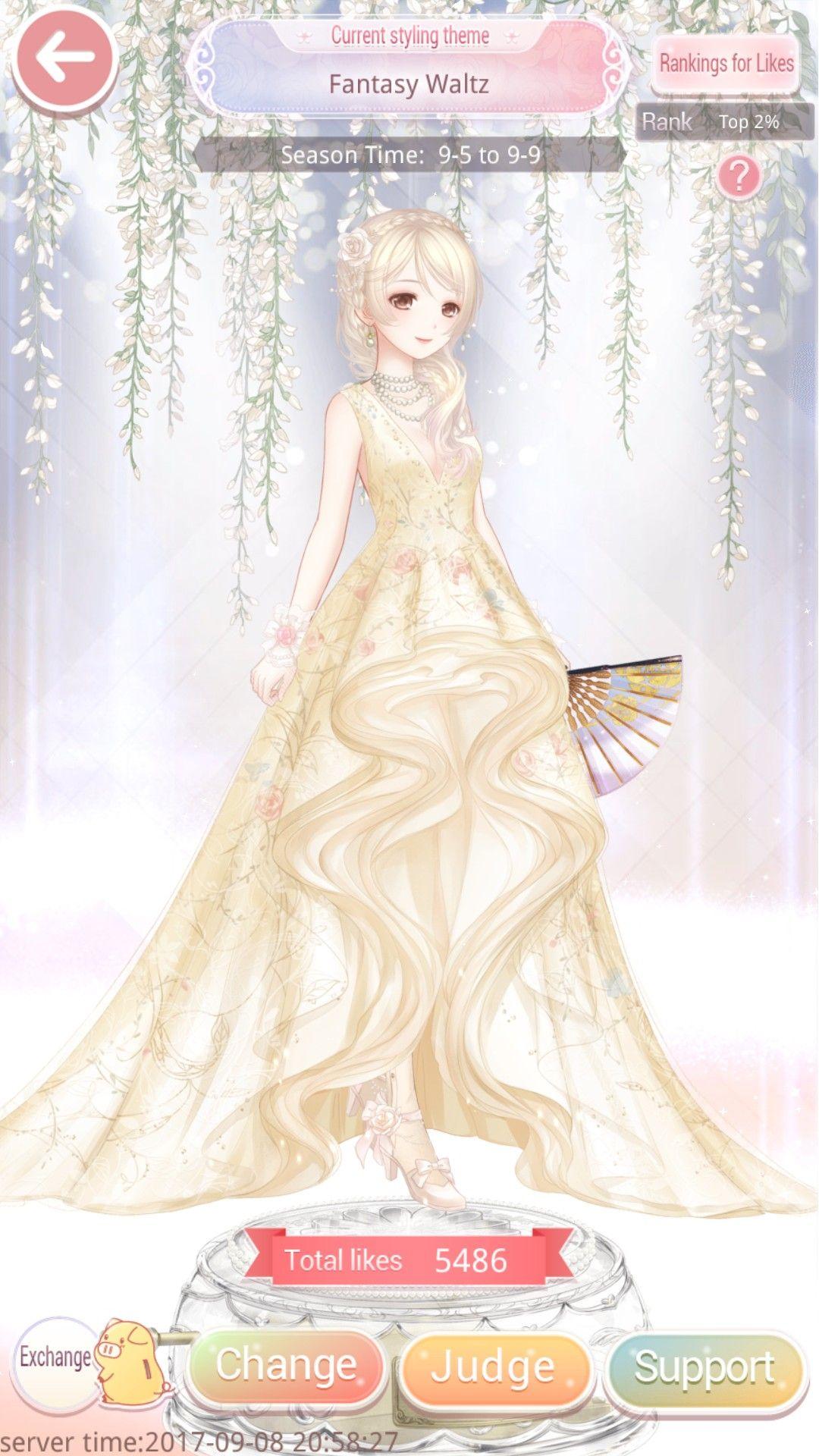 Fantasy Waltz Wedding Dresses Princess Drawings Anime Dress