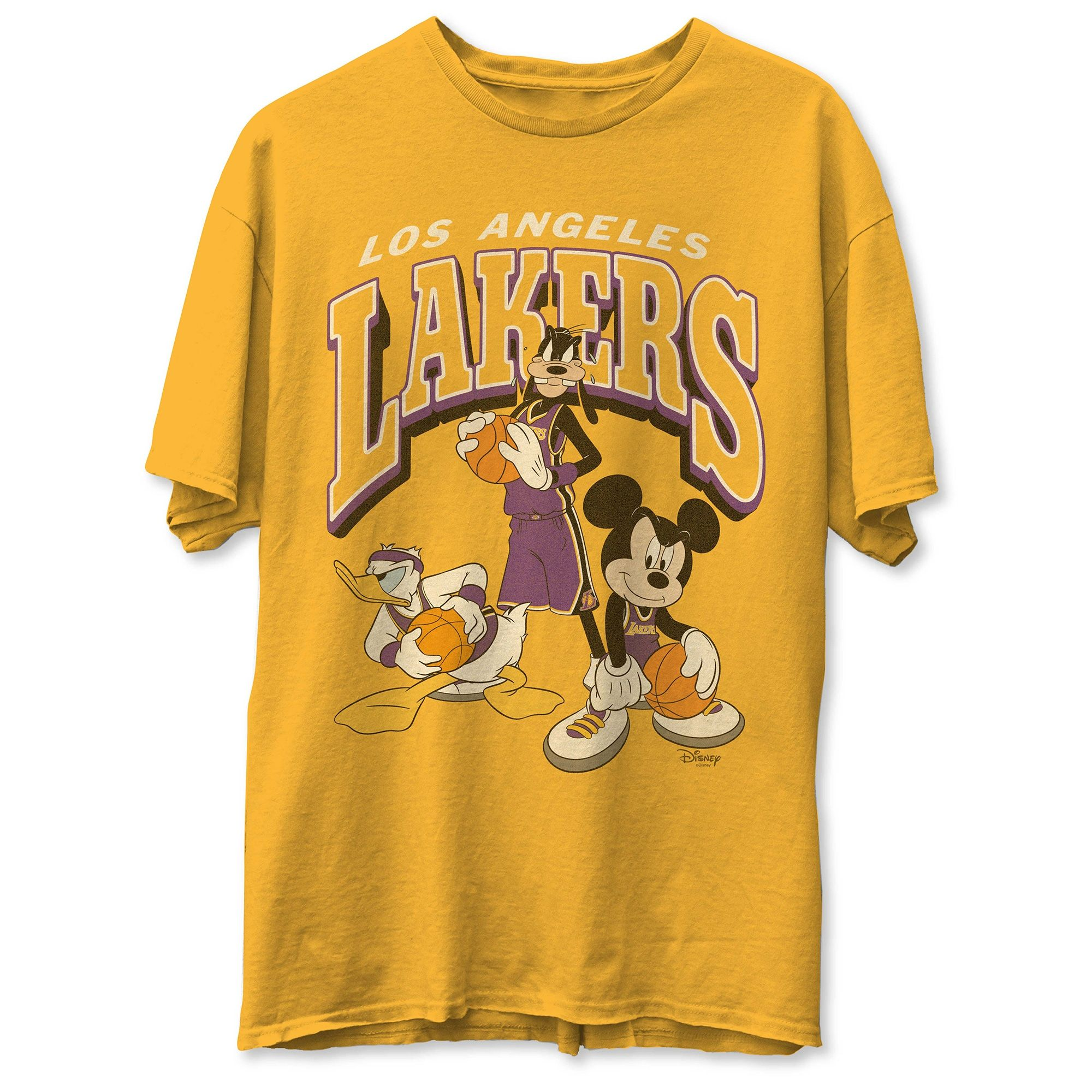 Men S Los Angeles Lakers Junk Food Gold Disney Mickey Squad T Shirt In 2020 Los Angeles Lakers Nba T Shirts Lakers T Shirt