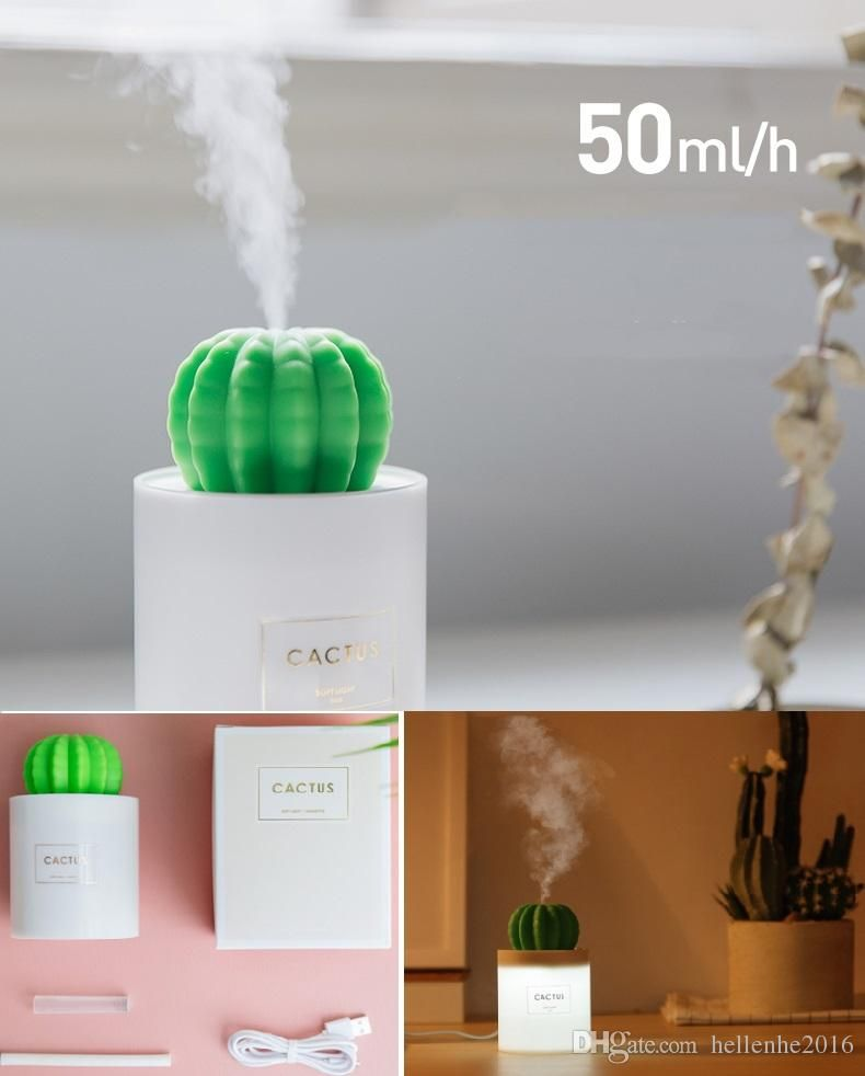 USB Portable LED Humidifier Air Purifier Cool Mist Diffuser for Car Offices Home