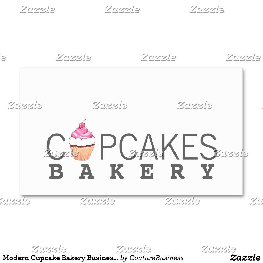 Modern Cupcake Bakery Business Card | Business Cards | Pinterest ...