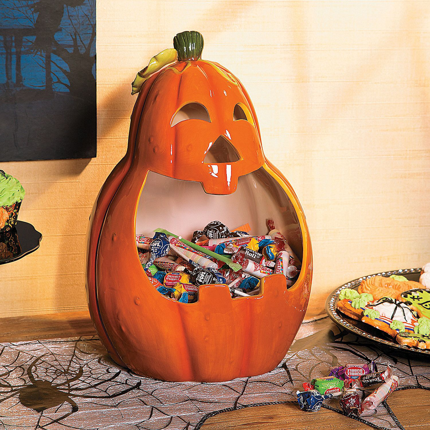 Pumpkin Candy Bowl With Wide Mouth Use this jacko