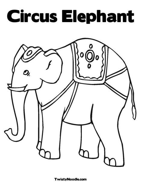 Circus Elephant Coloring Page Circus Elephant Art Circus Elephant