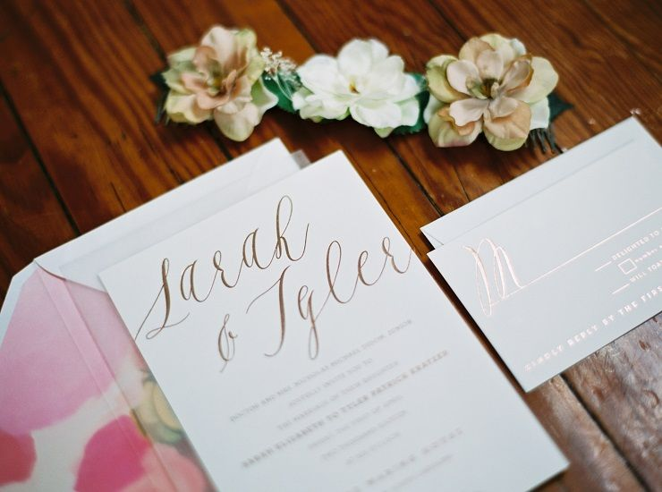 Wedding invitation for a wedding on April fool's day | fabmood.com