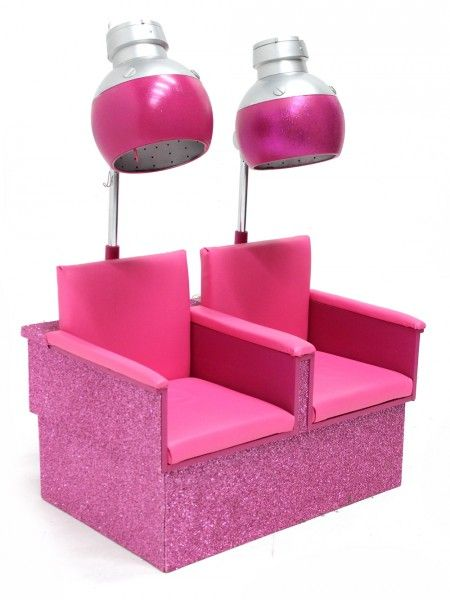 Retro Hooded Dryer Set Pink Ladies and TBirds Party – Retro Salon Chairs